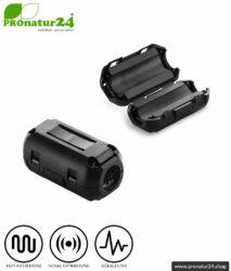 GRATIS Ferritkern Filter gegen Elektrosmog im Headsetkabel, klickbar, für Kabel bis zu 5 mm Durchmesser - 1x FERRITKERN GESCHENK!