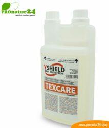 Texcare Waschmittel von YShield. Speziell entwickelt für Abschirmtextilien.