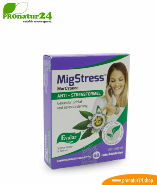MIGSTRESS™ (МигCтресс). Glutenfrei, vegan, ohne Gentechnik, GMP.