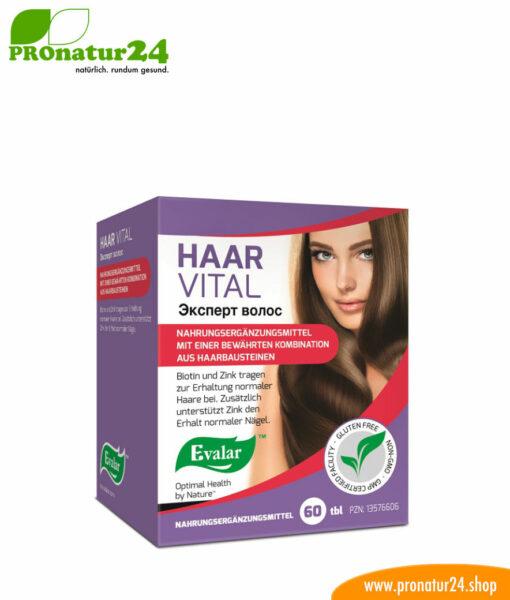 HAAR VITAL VON EVALAR (Эксперт волос). Glutenfrei, vegan, ohne Gentechnik, GMP.