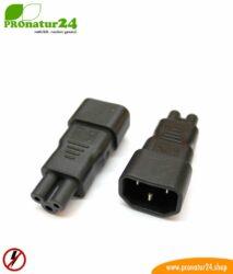 Adapter C13 Kaltgerätekabel auf dreipolig C5 (Laptop Klasse)
