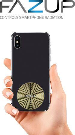 FAZUP gold. Passive Antenne zur Reduktion vor Mobilfunkstrahlung! Innovativer Schutz vor Elektrosmog von iPhone, Samung, Huawei. Aufzukleben wie Chip zu Harmonisierung.