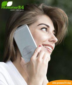 FAZUP silver. Passive Antenne zur Reduktion vor Mobilfunkstrahlung! Innovativer Schutz vor Elektrosmog von iPhone, Samung, Huawei. Aufzukleben wie ein Chip zu Harmonisierung.