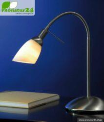 Geschirmte Lichtdusche als Tischleuchte, E14 Fassung, 40 Watt