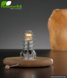 Geschirmter Lampensockel zum Nachrüsten von zB. Salzkristall-Leuchten oder selbst designte Lampenschirme. E14 Fassung, 15 Watt.