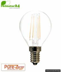 LED Leuchtmittel Filament Pure-Z-Retro BIO LICHT, matt, E14, 3 Watt, 300 Lumen, warmweiß (2700 K). Entspricht 30 Watt Lichtleistung.