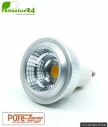 LED SPOT Leuchtmittel Pure-Z-Retro BIO LICHT, klar, GU10, 5 Watt, 380 Lumen, warmweiß (2700 K). Entspricht 40 Watt Lichtleistung.