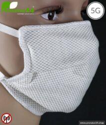 ANTIWAVE Schutz Maske für Mund und Nase | aus Abschirmstoff mit antibakterieller Wirkung | 3x Maximum in Hygiene, Wirkung und Tragekomfort!