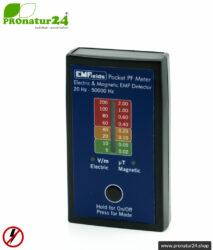 POCKET PF5 METER | Niederfrequenz Messgerät für Elektrosmog NF | Erkennung von elektrischen Wechselfeldern und magnetischen Feldern. 15-50.000 Hz. Potenialfreie Messung.