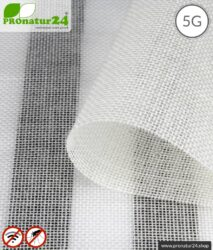 NATURELL ™ Abschirmstoff | ideal für Vorhänge und Baldachine | HF Abschirmung bis 38 dB von Elektrosmog durch FUNK, WLAN, DECT, LTE | TÜV-SÜD qualitätsgeprüft | 5G ready!
