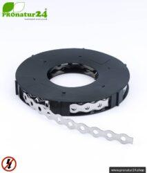 Edelstahl Lochband GSS10 (ehemals ELB) | Metallband zur Erdung von Abschirmgewebe
