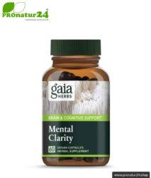 MENTAL CLARITY von Gaia Herbs | kann das Gedächtnis unterstützen | mushrooms & herbs | Pilze & Kräuter | 60 Kapseln