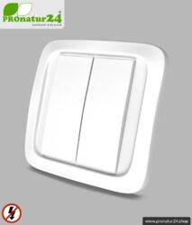 Handsender TX-NA16-WAND   2-Kanal Fernbedienung   Masterschalter Set-Up   baubiologische Funktechnik nach EnOcean Standard