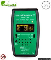 Safe and Sound Pro II EMF Detektor | Breitband Messgerät für Funkstrahlung HF | Erkennung von Funkstrahlung von 200 MHz bis 8 GHz, inklusive 5G. Profi-Gerät für Anfänger.